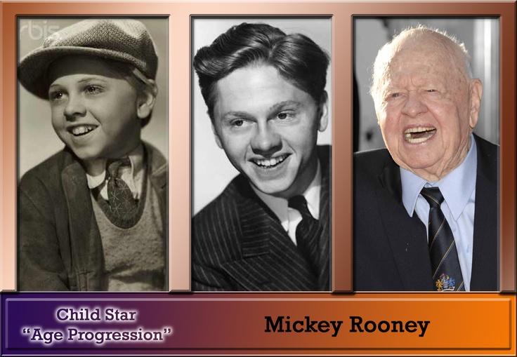 Mickey Rooney--what an amazing actor who's been starring in movies, commercials, stage performances since 1926! Basically non-stop, too.