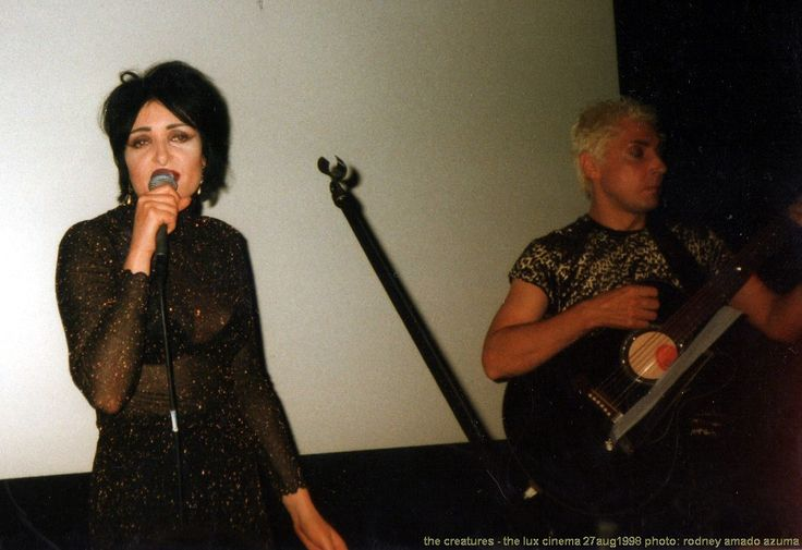 :x: The Creatures {Siouxsie Sioux and Budgie} :x: The Lux Cinema {London} :x: 27 august 1998 :x: photo: rodney amado azuma :x: