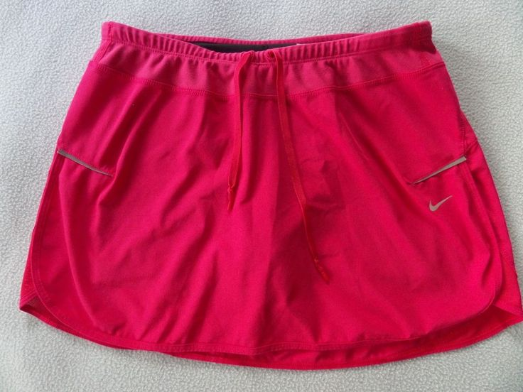 NIKE Dri-Fit Womens Sports Athletic Tennis Dark Pink Skort Skirt size S #Nike #SkirtsSkortsDresses