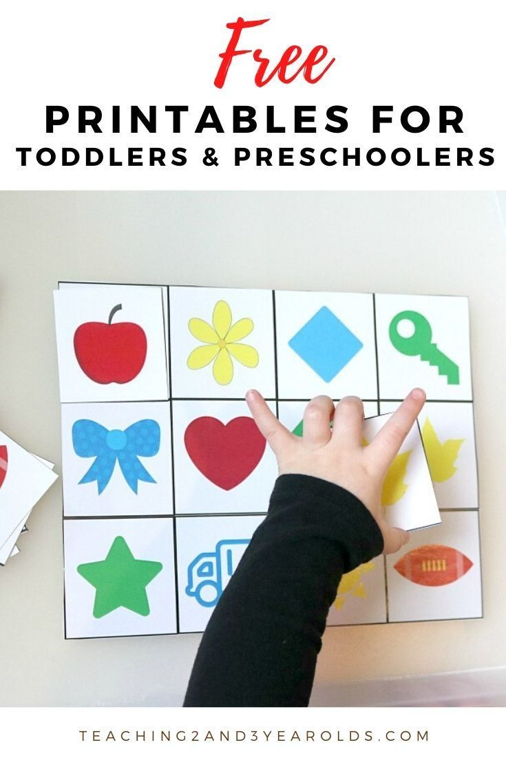 Free Printables For All Year Long Free Preschool Printables Montessori Toddler Activities Preschool Learning Activities