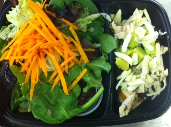 Personal Gourmet fresh: grilled chicken fajita salad with black beans, avocado, cheddar cheese and mixed greens: Black Beans, Personal Gourmet, Chicken Fajita, Cheddar Cheese, Grilled Chicken, Fajita Salad