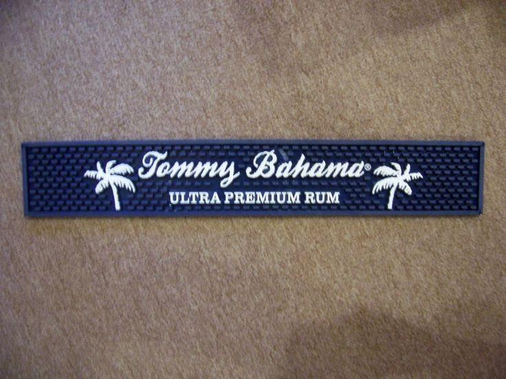 Rare Tommy Bahama Rum Rubber Bar Counter Mat Great Grapics