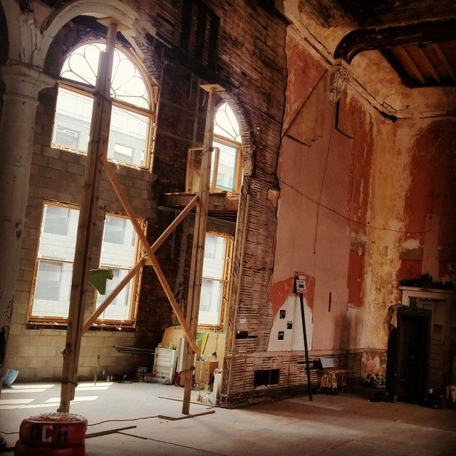 The Carr Center's upstairs theatre under renovation #Detroit #Michigan #USA #313 #rehab #urban #commercial #RealEstate #immobilier #immobilias #architecture #international #Windsor #Ontario #canada #hellodetroit #DTRdetroit