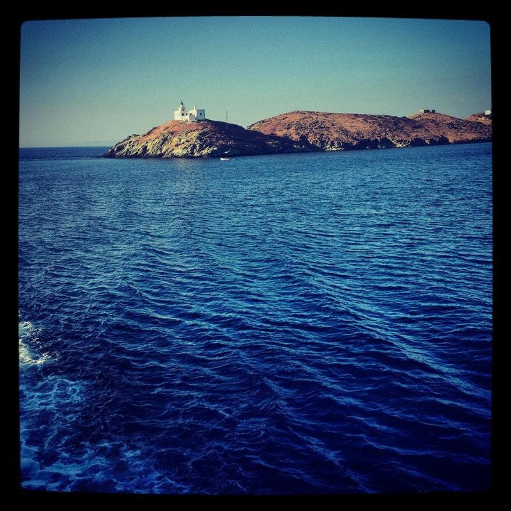 Beautiful Blue Aegean Sea... The first thing you see as you enter with the boat.