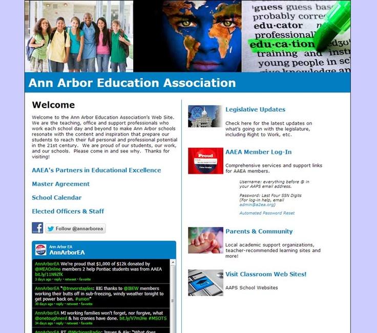 AAEA Ann Arbor Education Association Portfolio website