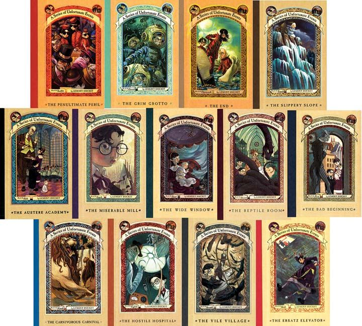 Image result for a series of unfortunate events book covers