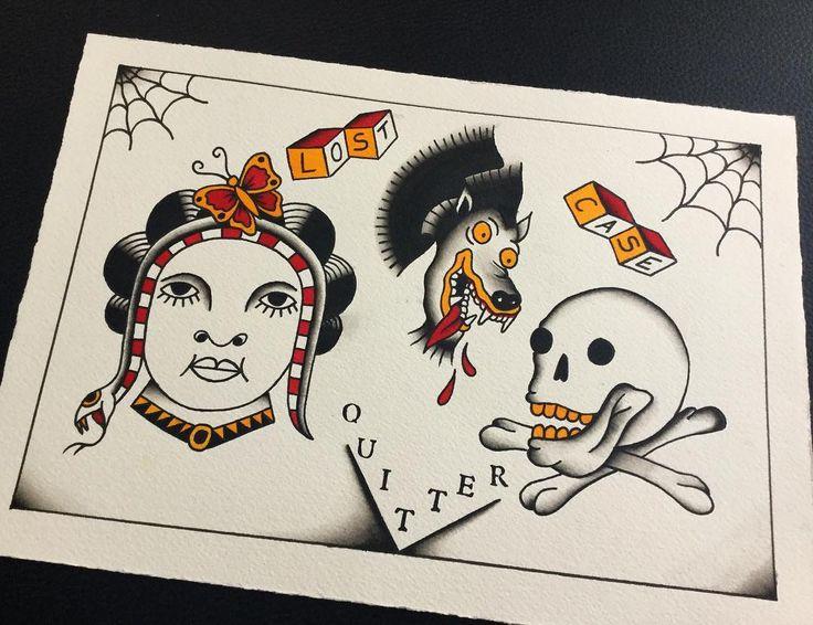 Wolne wzorki/available✌ #blacktattooart #blacktattoos #warsaw #lublin #warsawtattoo #tatuaż #illustration #painting #ink #blackink #blxckink #darkartists #blackworkers #illustration #oldschooltattoo #traditionaltattoo #tattooapprentice #bttattooing #greyspit #allspit #trad_tattooflash #trflash #bright_and_bold #tttism #tattoo #ladytattoo #flashaddicted #skulltattoo #wolf #wolftattoo