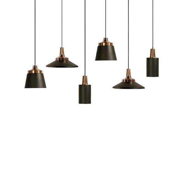 Home Cartel Miller 25cm Black Rose Gold Pendant Light Features