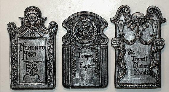 Aimants de pierre tombale lot de 3 par Dellamorteco sur Etsy