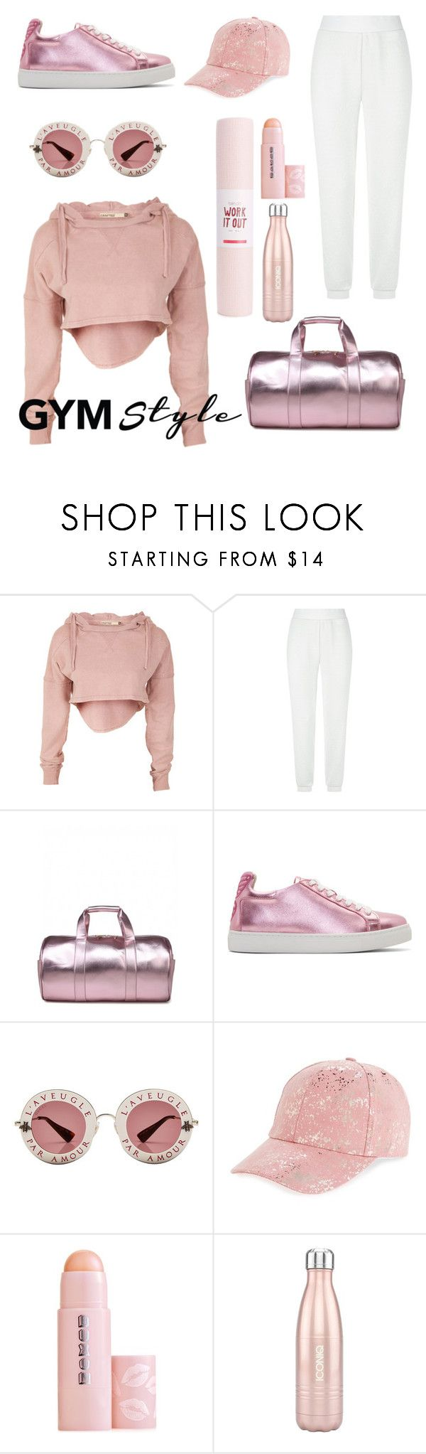 """""""Gym style"""" by sheikha-ma ❤ liked on Polyvore featuring Escada Sport, Sophia Webster, Gucci, Amici Accessories, Buxom and ban.do"""