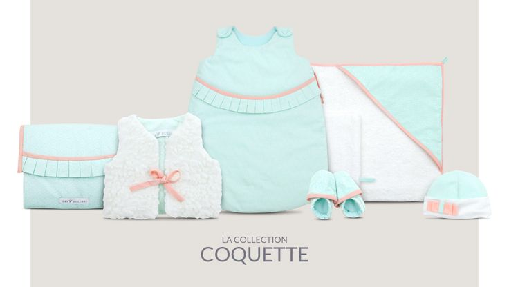 Lait fraise ou menthe à l'eau ?  La collection Coquette aux couleurs pastel accompagnera les petites filles élégantes du réveil au coucher. lesduludes.com