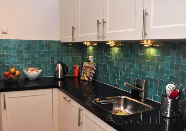 Tile: Zellige Turquoise 5x5cm   Designtegels.nl