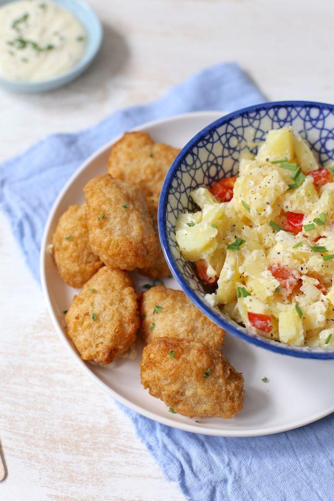 Aardappelsalade met kibbeling - Lekker en Simpel