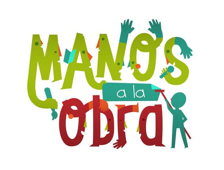 Logo / Manos a la Obra. CLAN. Diseño: Jonathan Cárdenas. Bogotá, 2015.