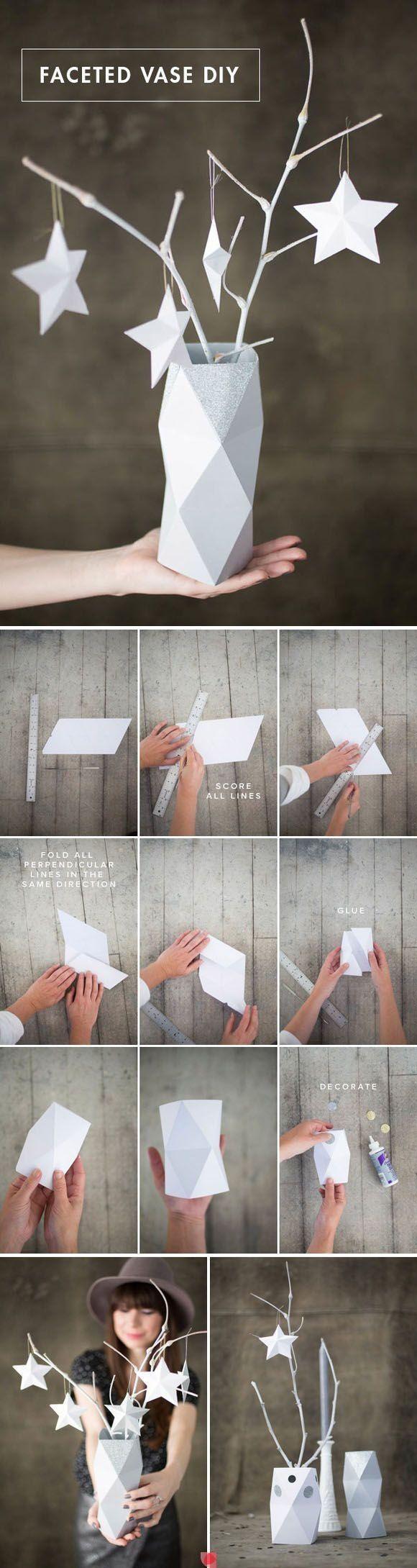 Ваза из картона своими руками. Для декора дома