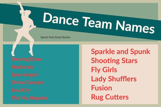 Fun Dance Team Names For Your Group Sports Feel Good Stories Team Names Dance Teams Best Team Names