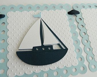 Gray Nautical It's A Boy Banner Nautical Banner by 2muchpaper