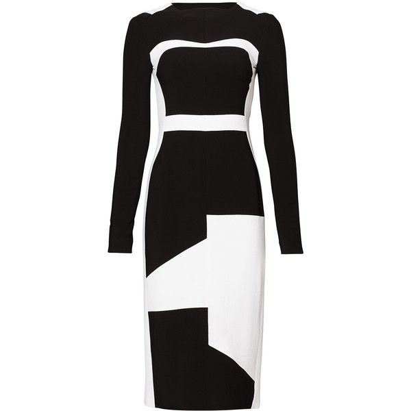 Rental Antonio Berardi Geometric Block Off Sheath (£235) ❤ liked on Polyvore featuring dresses, color block sheath dresses, colorblock dress, geometric print dress, boat neck dress and boatneck dress
