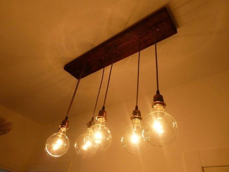 Gorgeous edison light globes hanging from ceiling! Altılı Avize : Lighting by Atölye Butka