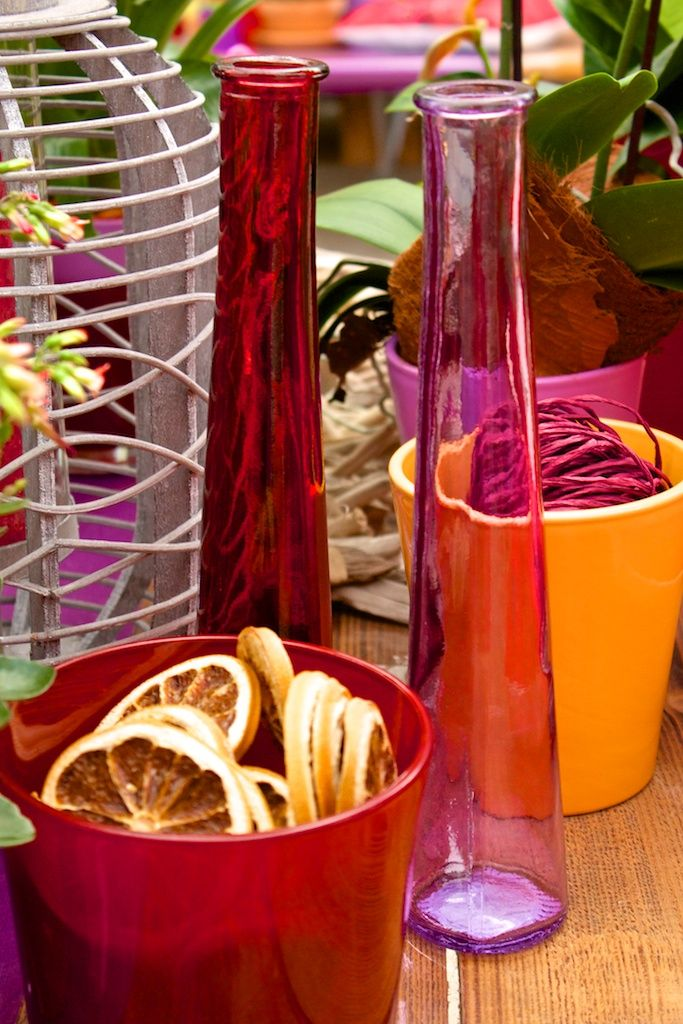 We use different materials in our House of Inspiration! #Exotic #Bohemian #Colors #Transparent #Pink #Red #Orange