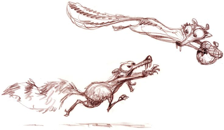 Peter De Seve  Scrat and Scratte,Ice Age: Dawn of the Dinosaurs