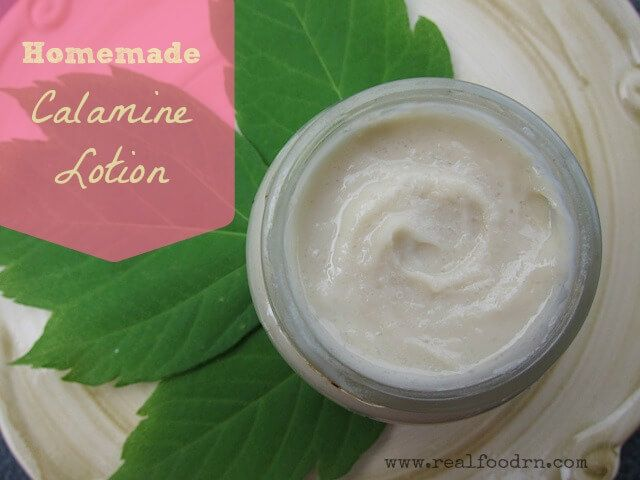 Homemade Lotion Recipes - calamine lotion