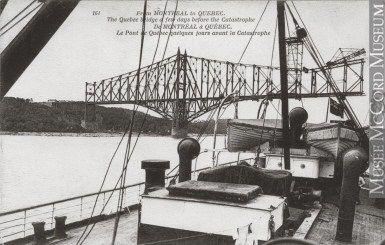 Le pont de Québec avant le désastre en 1907