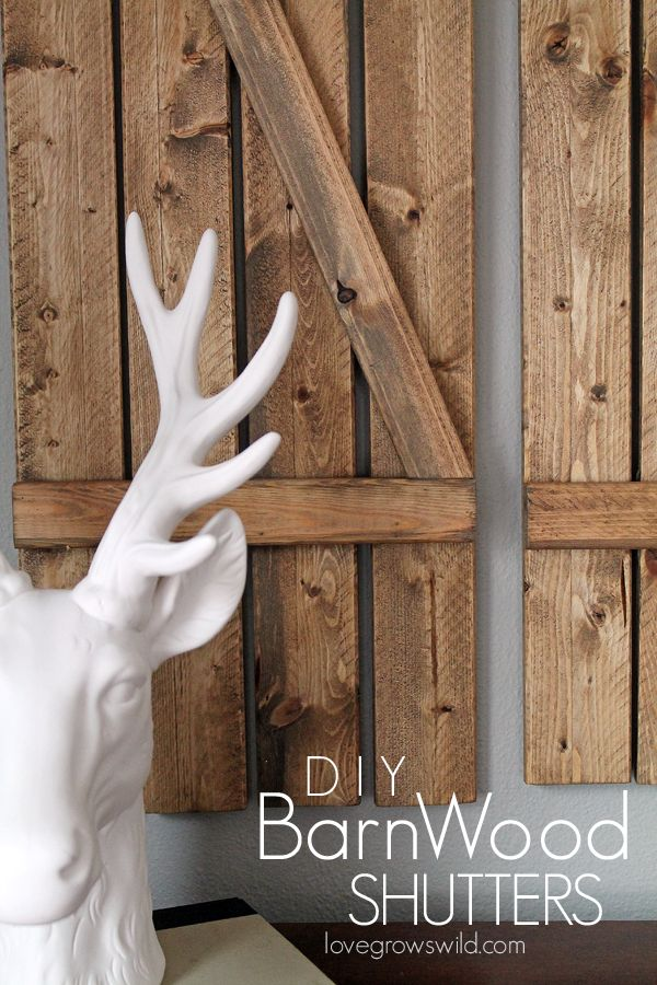 You can make these gorgeous rustic Barn Wood Shutters for under $12! Learn how at LoveGrowsWild.com