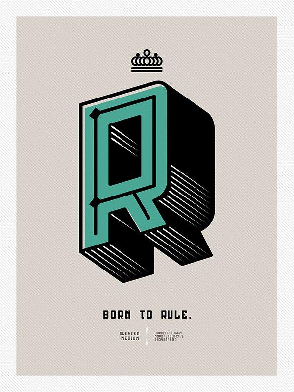 Born to Rule. Dresden - Typeface by Alex Malkiewicz