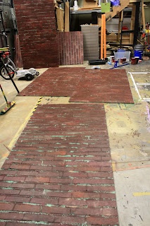 The Creative Imperative - making faux brick out of styrofoam/foam insulation panels.