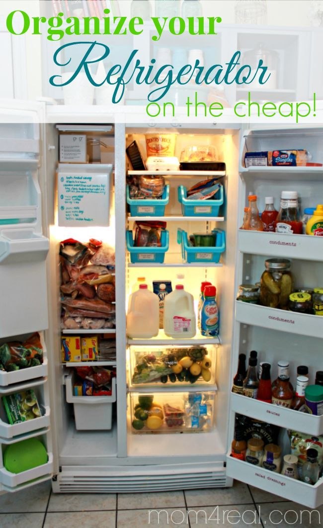 Organize Your Refrigerator On The Cheap Cleaning Tips