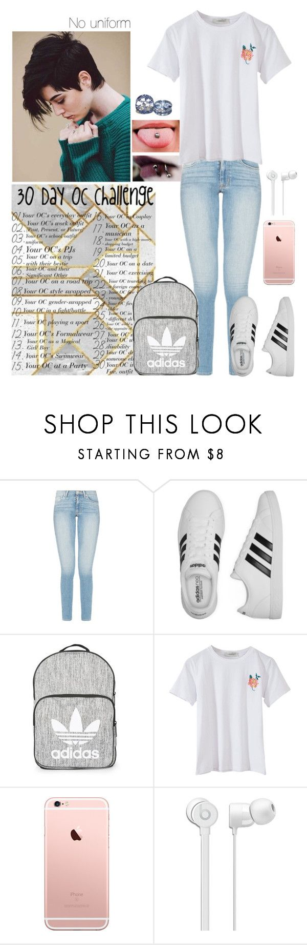 """Day 3- Your OC' school uniform."" by sunshinelarry ❤ liked on Polyvore featuring adidas, Topshop, BackToSchool, school, 30daychallenge and schooloutfits"