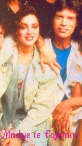 Madonna & Mick Jagger
