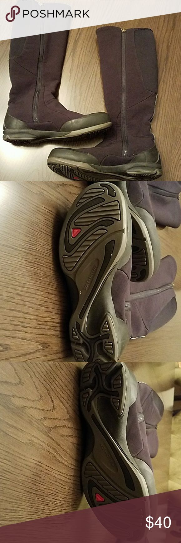 """Winter boots by Salomon Thinsulate to keep your feet warm and dry.  16"""" bottom of heel to top of shaft. Worn one season then sat in my closet. Bundle discount. Offers welcome. I ship within 24 hours! Salomon Shoes Winter & Rain Boots"""