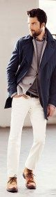 Cool spring white jeans outfits for men (8)