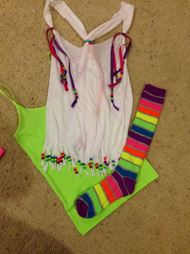 DIY color run outfit