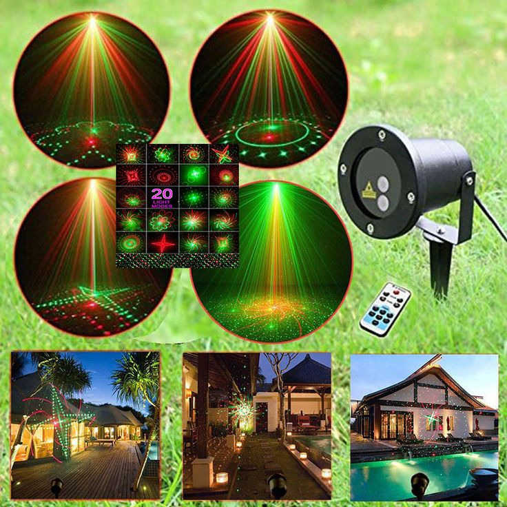 Star Laser Christmas Light Show Projector Waterproof Remote Controller