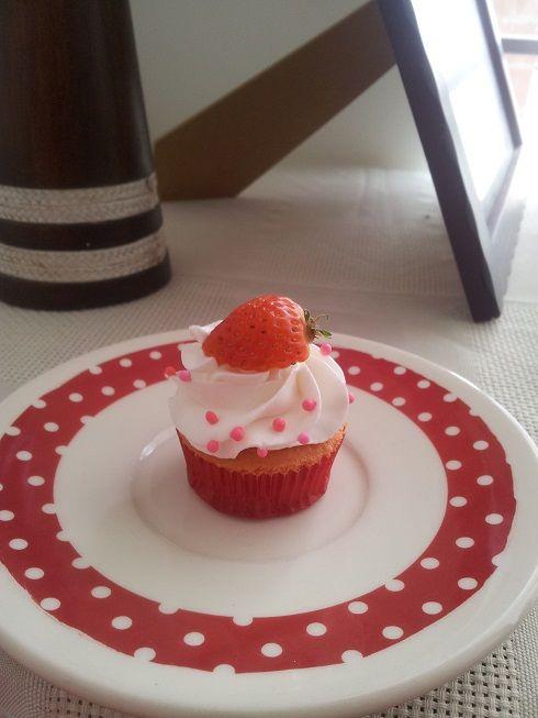Cupcake de fresa....