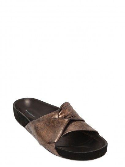 Sandali bronzo in pelle metallizzata primavera Estate 2015