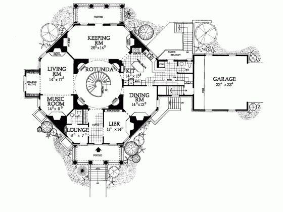27 best octagonal plans images on Pinterest | Octagon house, House ...