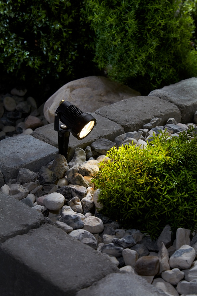 This one is called Trädgård (Garden in english) and that´s just the purpose of this kind of lights. 12V and warm LED-light. Connectable with all the Trädgård-system.