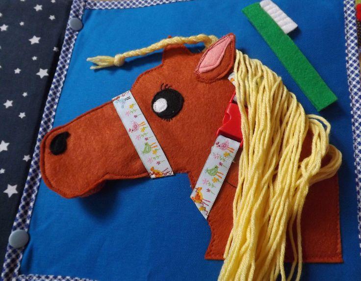 Quiet book page - horse