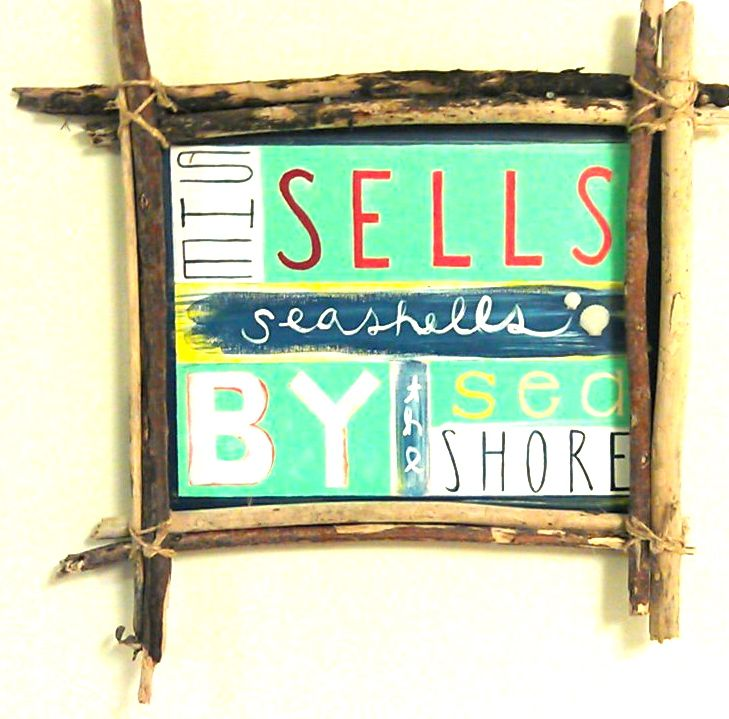 Made this sign from drift wood and added some sea shells found at the beach. A perfect addition to my little Hawaiian abode.