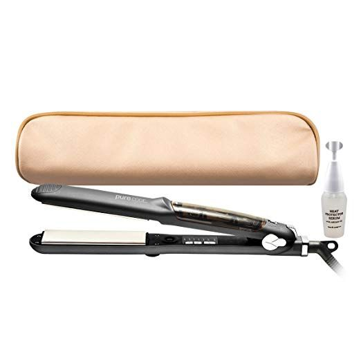 Purecode Titanium Infuse Pro Vapor Flat Iron Heat Protector Serum For Straightening And Curling Hair Review Heat Protector Hair Serum Flat Iron Hair Styles