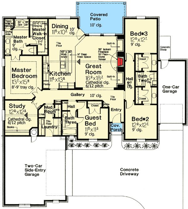 1000 images about floor plans on pinterest ranch style for Traditional open floor plans