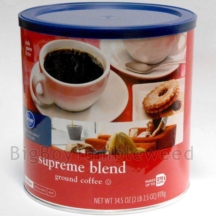Kroger 2 lb can SUPREME BLEND Medium roast Ground Coffee