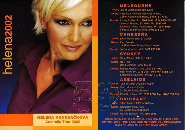 HELENA 50 LET NA SCÉNĚ | Australské turné 2002