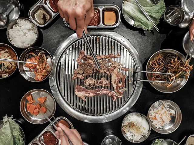 Now Open Samgyupsalamat Alabang Town Center Ayala Malls South Park Offering Unlimited Korean Bbq Meats As Well As Noodles And Bibi Bbq Meat Korean Bbq Bbq