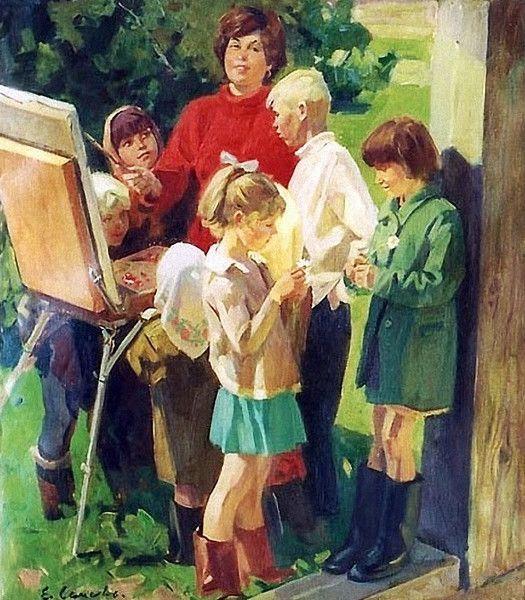 Школа художников в картинках