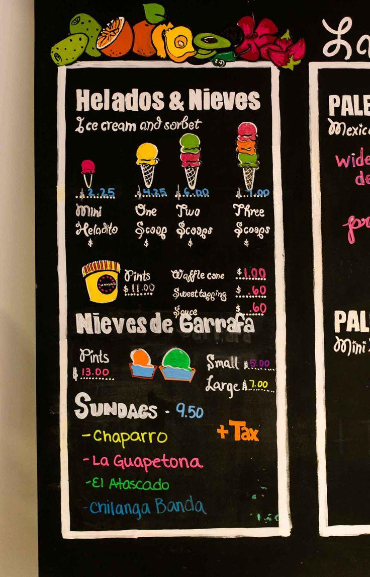 Helados at Le Newyorkina ice cream